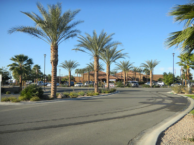 The entrance to the Palms RV resort in Yuma.   Jan, 2011.