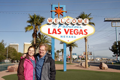 At one of the entrances to Las Vegas.   Dec, 2010.