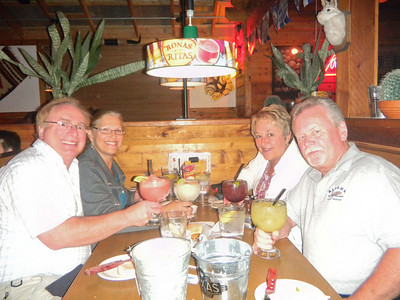 Having one last dinner with Marie and Ralph on our last day in Yuma.  Jan, 2011.