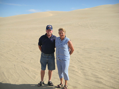 Marie and Ralph at the sand dunes in California - about 15 miles west of Yuma.  Jan, 2011.