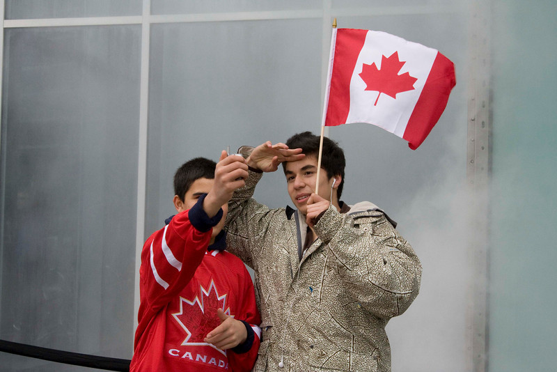 Patriotic Canadians.