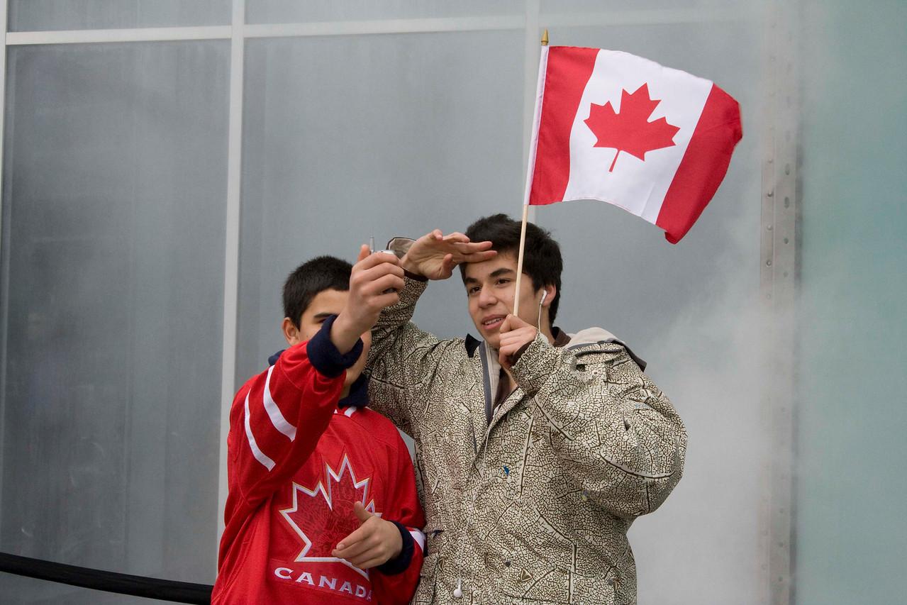 Patriotic Canadians.