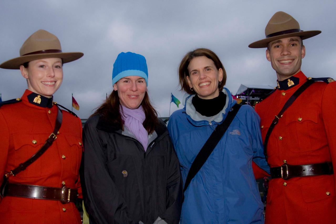 Royal Canadian Mounties, Katey & Kim.