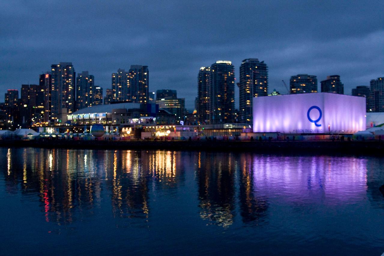 Quebec House, Hockey stadium, city of Vancouver.