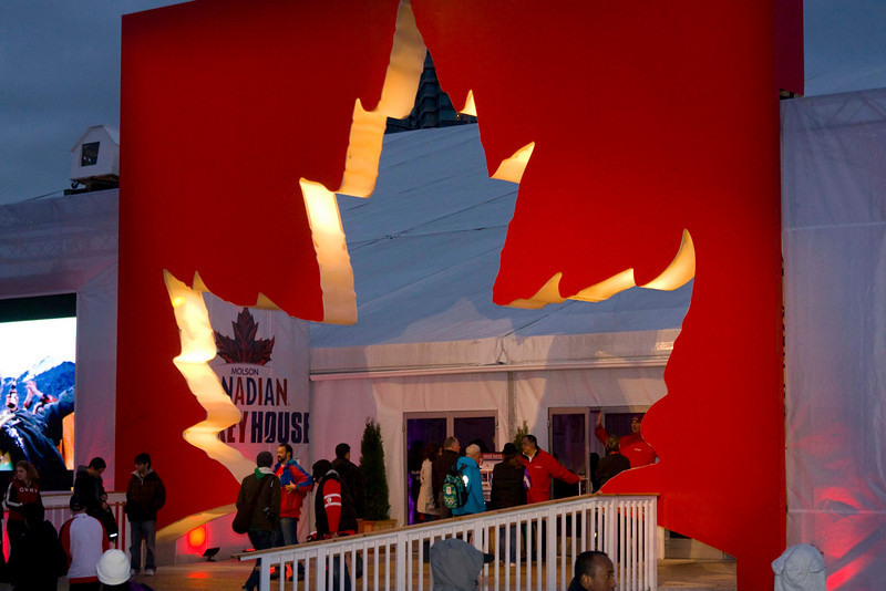 Entrance to the Canadian Hockey House.