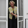 Nancy Latener invites us to join her in the church.  I had asked for permission to photograph the exterior.
