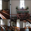 The small church has seating capacity for a maximum of 70.  Until eight years ago there was no electricity.  The natural light is peaceful and softens the interior.