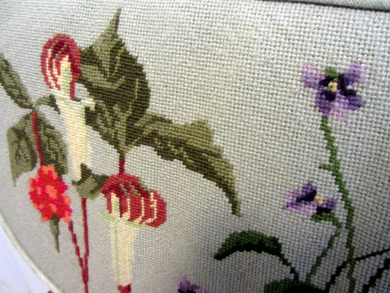 Exquisite needlepoint.