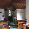 Interior of the 70 person capacity Church of the Atonement.