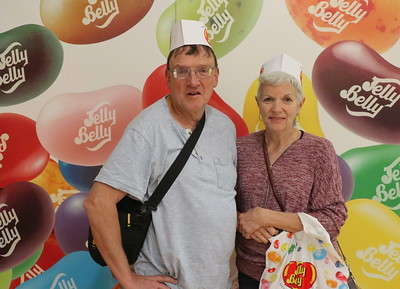 Yes, the hats look silly but are required for touring the Jelly Belly warehouse.