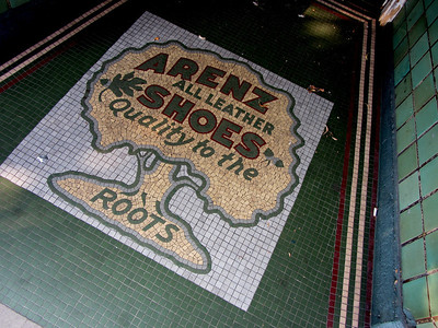 Once the home of Arnez Shoes is now a book store.