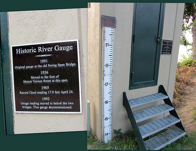 Historic River Gauge.  And so you're ready for the next trivia contest, the record flood reading of 17.9 feet was recorded on April 24th, 1965.
