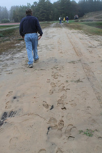 Jerry walks the cranberry backroads.
