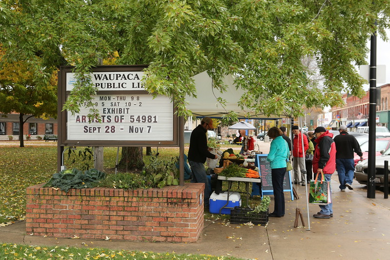 Local Fresh Produce Market held on Saturday A.M at Waupaca Public Library grounds