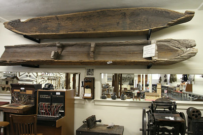 From dug-out canoes to switchboards and typewriters the world of yesteryear is on display in the museum's basement..