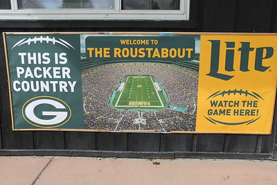 Just in case you didn't know where you were - This is PACKER COUNTRY