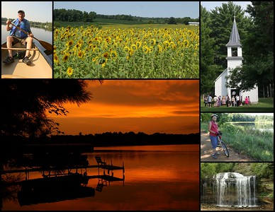 From Sunsets to Sunflowers & Biking to Canoeing we trekked through Five Counties in Five Days