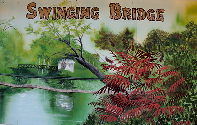 The only surviving Swinging Bridge in Wisconsin is here.