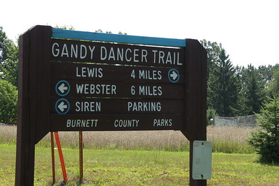We're on the Gandy Dancer Trail - ready made for biking in Burnett County