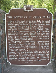 The Battle of St. Croix Falls, a Polk County Wisconsin Landmark