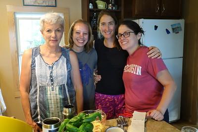 Sarah, Tara, Allison and Whitney - Cabin Chefs