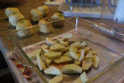 An apple treat in preparation