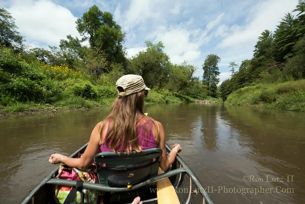 Canoeing Down the Kickapoo