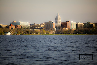 Madison Isthmus including the Capitol from Lake Mendota.   © Copyright m2 Photography - Michael J. Mikkelson 2009. All Rights Reserved. Images can not be used without permission.