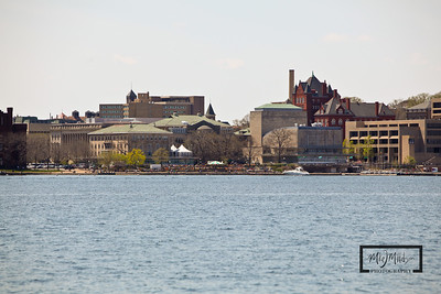 University of Wisconsin, Madison: Memorial Union, Hoofers, Science Hall from Lake Mendota