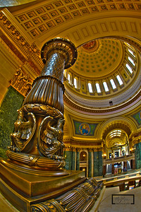 Eagle Lamp Pole in the Wisconsin State Capitol  © Copyright m2 Photography - Michael J. Mikkelson 2009. All Rights Reserved. Images can not be used without permission.