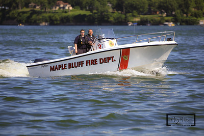 Maple Bluff Fire Department Boat #3  © Copyright m2 Photography - Michael J. Mikkelson 2009. All Rights Reserved. Images can not be used without permission.