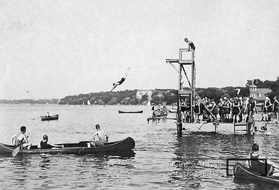 Diving Competition on the University Swimming Pier.