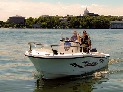 Dane County Sheriff on Lake Mendota  © Copyright m2 Photography - Michael J. Mikkelson 2009. All Rights Reserved. Images can not be used without permission.