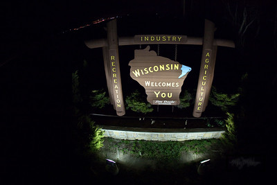 """Wisconsin Welcomes You"" Sign  © Copyright m2 Photography - Michael J. Mikkelson 2009. All Rights Reserved. Images can not be used without permission."