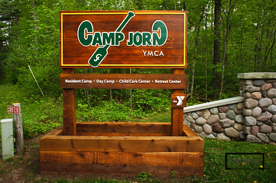 New Sign at the Entrance to Camp YMCA Camp Jorn 2012 Spring Work Weekend © Copyright m2 Photography - Michael J. Mikkelson 2012. All Rights Reserved. Images can not be used without permission.