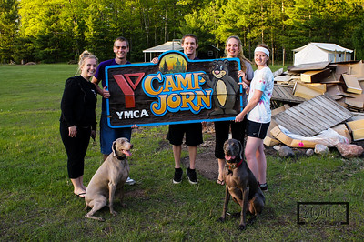 YMCA Camp Jorn 2012 Spring Work WeekendSomeone threw the old sign in the friendship fire to be burned.   The sign was resurrected, along with the skillet, to fix at a later date.  Might be a good auction item at Pancake Breakfast. © Copyright m2 Photography - Michael J. Mikkelson 2012. All Rights Reserved. Images can not be used without permission.