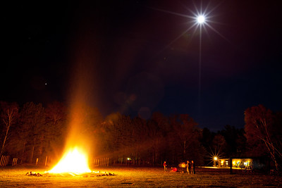 Friendship Fire under moonlight YMCA Camp Jorn 1st Annual 5th Non-Annual Alumni Reunion © Copyright m2 Photography - Michael J. Mikkelson 2012. All Rights Reserved. Images can not be used without permission.