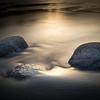 Dawn Rocks and Waves