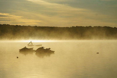 Jet Skis In The Mist