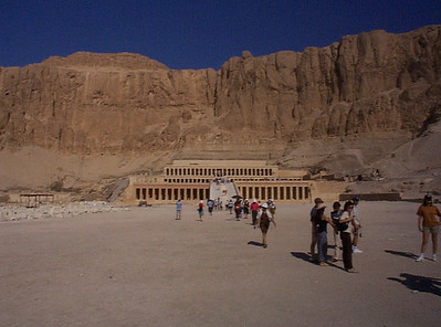 Hatshepsut: Near Luxor in the Valley of the Queens, this temple was carved out of the rock, not built stone upon stone.