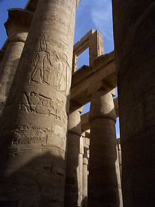Karnak - City of Luxor: This room of columns is in the Temple of Amun Ra. Karnak has an interesting sound and light show at dusk.