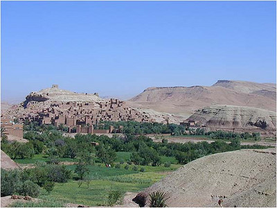 To reach the Kasbah, we had to hike more than a mile from the dirt road, and ford a small river. The hike was worth it.