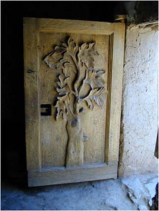 A beautifully carved door in the Kasbah.