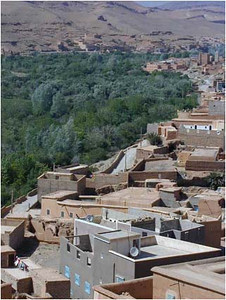 Throughout Morocco, at least one modern technology is ubiquitous, Satellite TV. Even in the smallest villages and on top of the most primitive mud brick houses, the satellite dish is omnipresent.