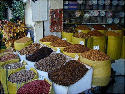All the medinas we visited had a souk for spices. This is typical.