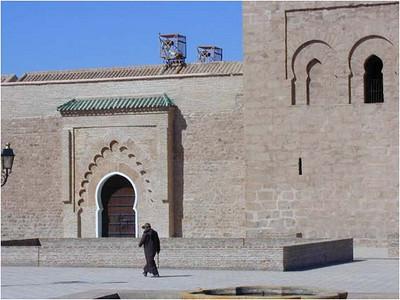A courtyard at Al Koutoubia ...