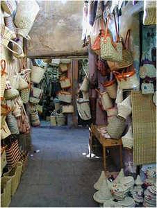 The souks were well defined and were virtual supermarkets devoted to leather, or baskets, or ... whatever.