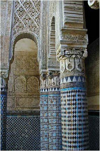 Another interior view. Inlaid tile designs are a common feature of the Moorish architecture ...