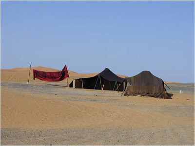 The nomadic Berbers live an even simpler but undoubtedly harder life in camel skin tents.