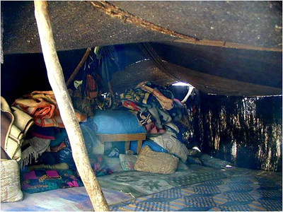 These are a place to sleep, shade in the heat of the day, and nothing more. For a nomadic Berber, life is the pursuit of food and water.